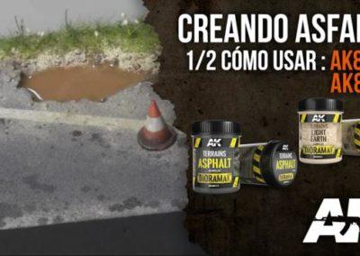 Simular asfalto.  AK8013 + AK8021