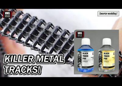 Cómo ennegrecer y pulir cadenas de metal de carros de combate con VMS Black Track Pro tutorial