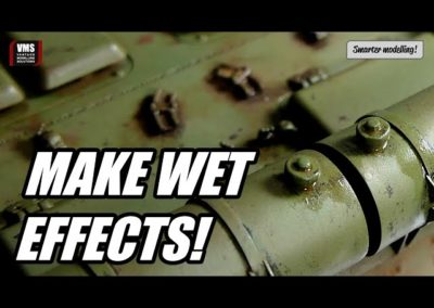 Cómo hacer efectos húmedos en una maqueta de un tanque con aglutinantes VMS Alkyd PARTE 3 EFECTOS MOJADOS