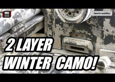 Cómo hacer camuflaje de invierno en tanque modelo – Tutorial VMS Chip & Nick white
