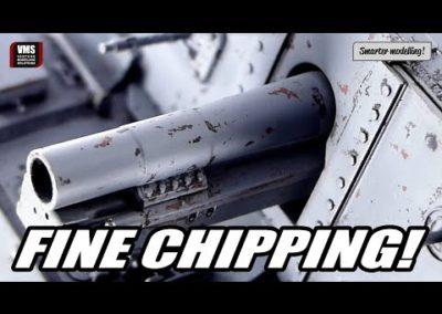 Cómo hacer efectos de chipping finos en el modelo de tanque – VMS Chip & Nick GREY base tutorial