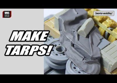 Cómo hacer telas y lonas en un modelo de tanque con papel normal – Tutorial VMS Paper Shaper